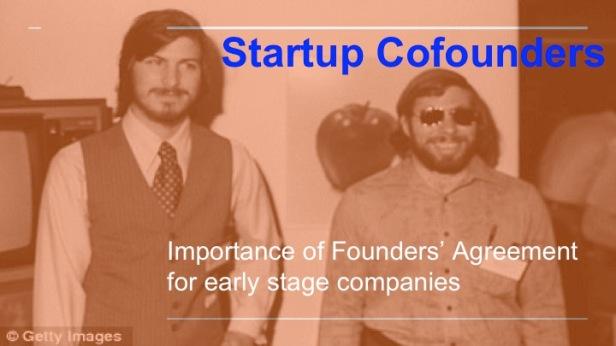 cofounder shareholder promoter agreement for startups company investment