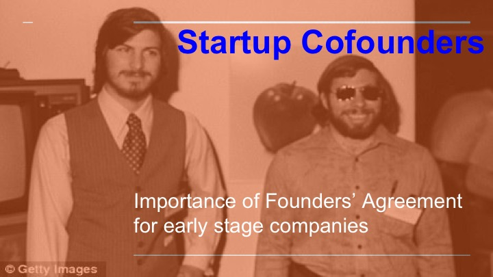 cofounder shareholder promoter agreement for startups company investment